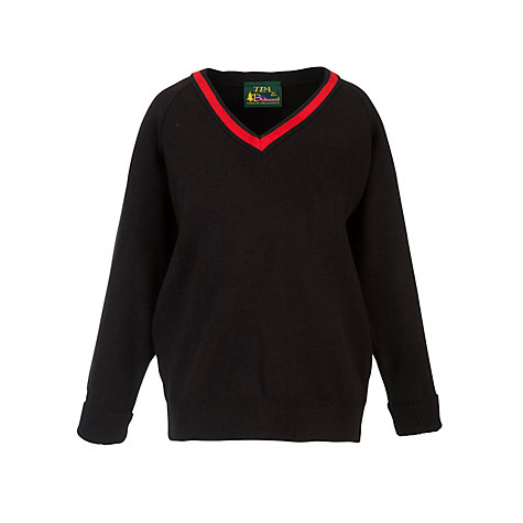 Buy Lady Margaret School Girls' Jumper, Black/Red Online at johnlewis.com
