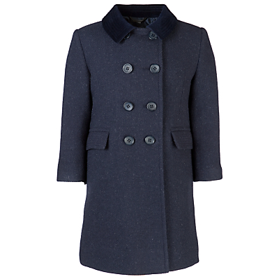 Product photo of School girls shetland coat navy