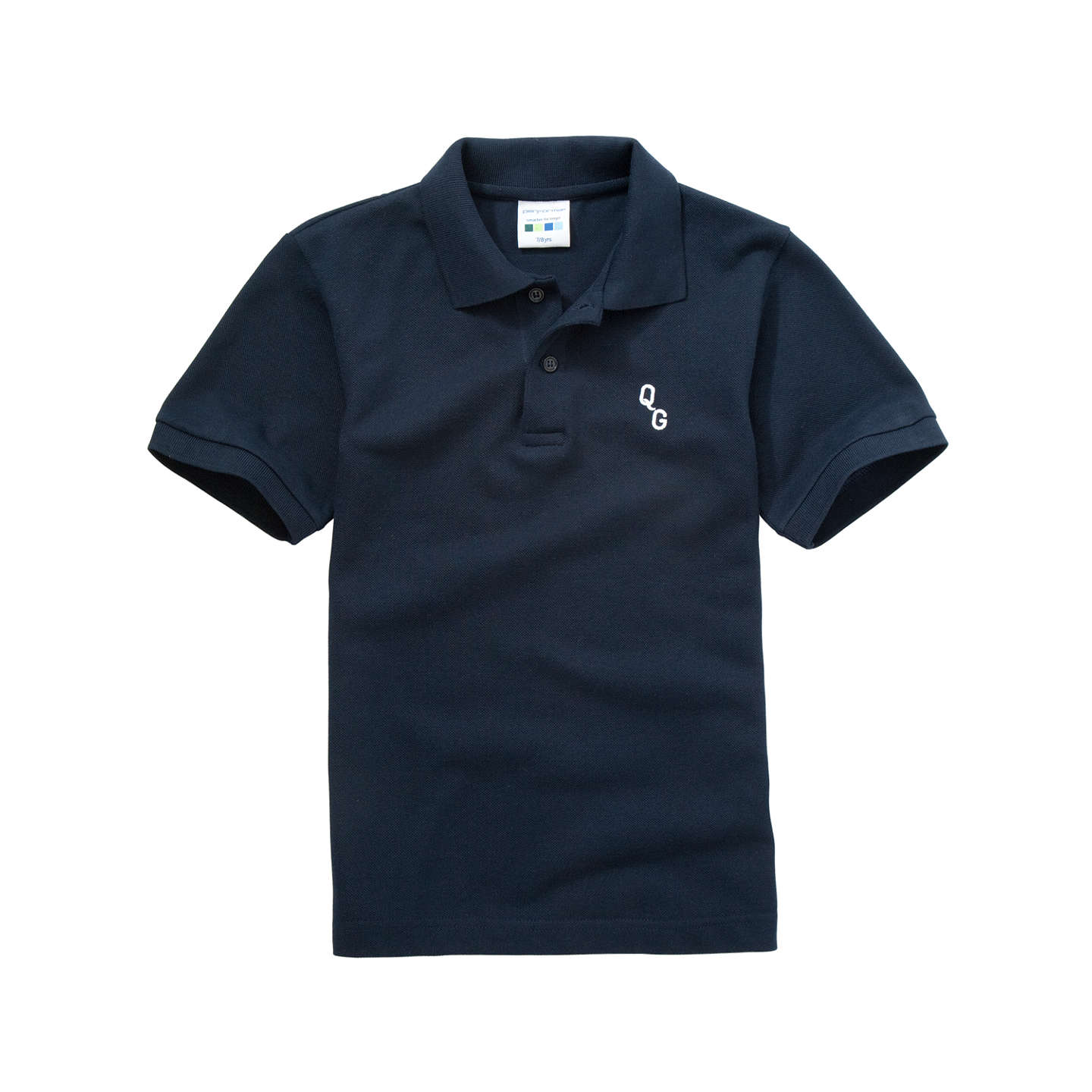 Navy Blue School Polo Tops Rldm
