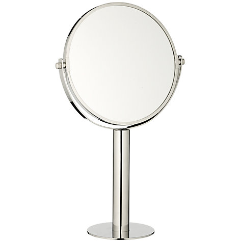 Buy John Lewis Curve Stainless Steel Polished Magnifying Pedestal Mirror, Silver Online at johnlewis.com