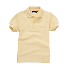 Buy Plain Unisex School Polo Shirt, Yellow Online at johnlewis.com