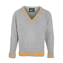 Buy Cheadle Catholic Infant & Junior School Boy's V-Neck Jumper, Grey Online at johnlewis.com
