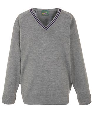 The Chorister School Prep Unisex Pullover, Grey/Purple