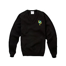 Buy K.D. Grammar School For Boys Pullover, Black Online at johnlewis.com