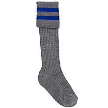 Buy School Boys' Socks, Pack of 2, Grey/Blue Online at johnlewis.com