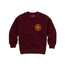 Buy St Columbas RC Primary School Unisex Sweatshirt, Maroon Online at johnlewis.com