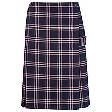 Buy Westfield School Junior (Key Stage 2 Upwards) and Senior Girl's Tartan Kilt, Navy/Pink Online at johnlewis.com