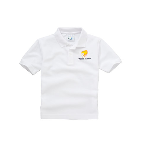 Buy William Hulme's Grammar School Unisex Polo Shirt, White Online at johnlewis.com