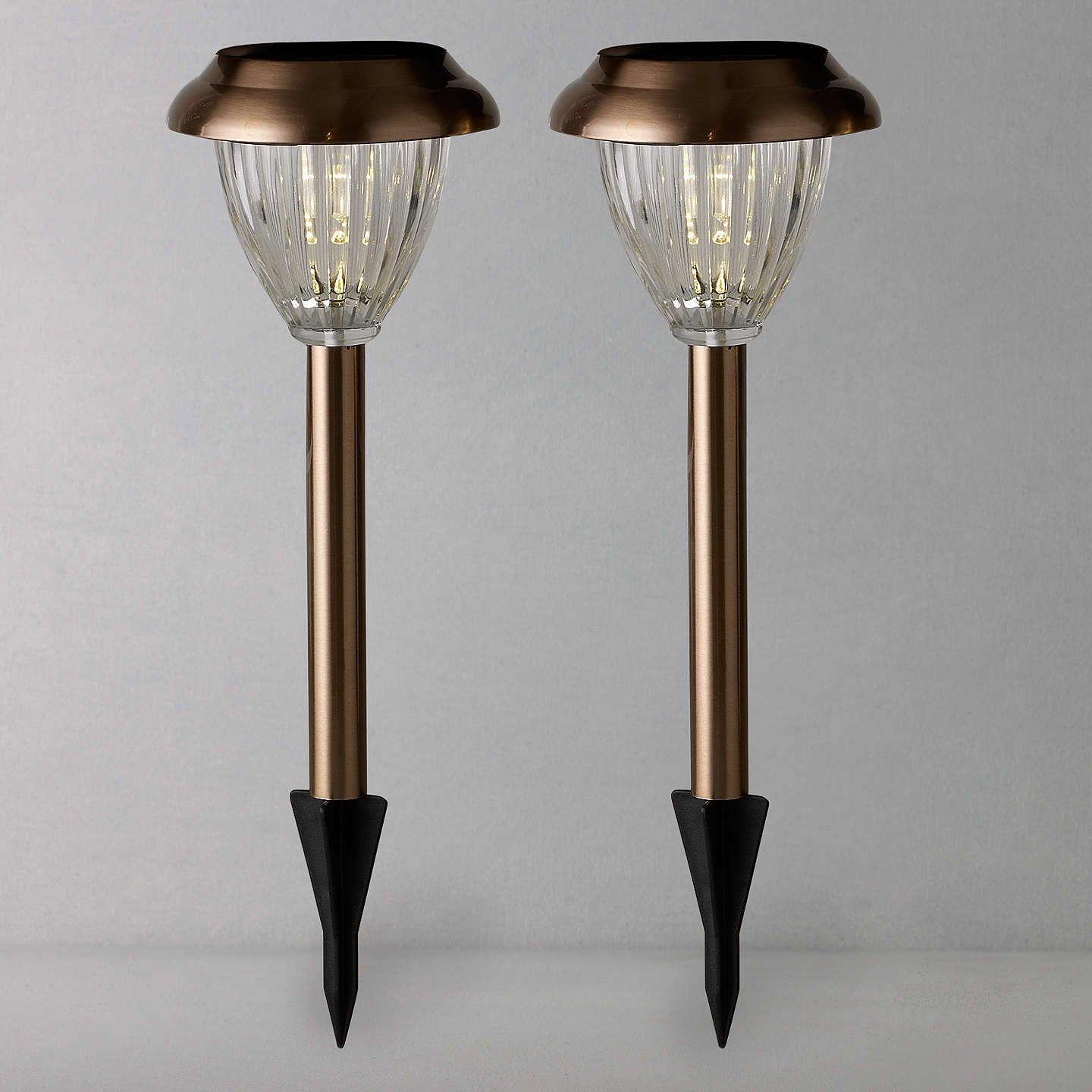 Porch Light John Lewis: John Lewis Bahia Solar Outdoor LED Stake Lights, Copper