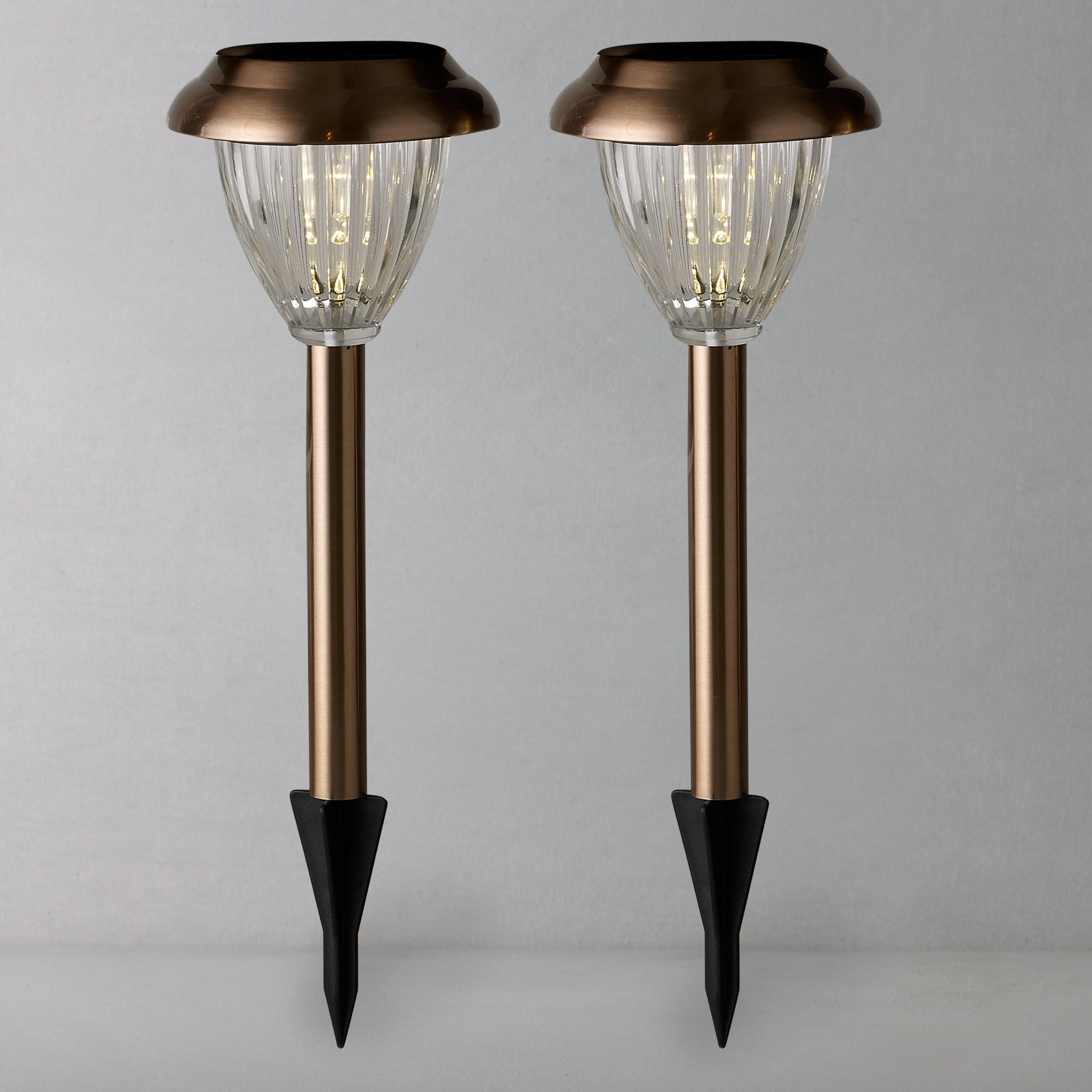 Buy John Lewis Bahia Solar Outdoor LED Stake Lights Copper Set