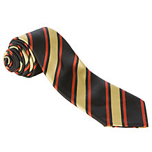 Buy Ponteland Community Middle School Unisex School Tie, Black/Gold Online at johnlewis.com