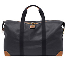 Buy Mulberry Scotchgrain Large Clipper Holdall, Black/Cognac Online at johnlewis.com