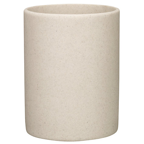 Buy john lewis dune bathroom bin sandstone john lewis for Marble bathroom bin