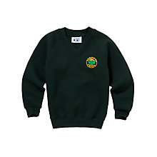 Buy Greenbrae Primary School Unisex Primary V-Neck Sweatshirt, Bottle Green Online at johnlewis.com