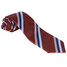 Buy Harlaw Academy Unisex Tie, Maroon/Blue Online at johnlewis.com