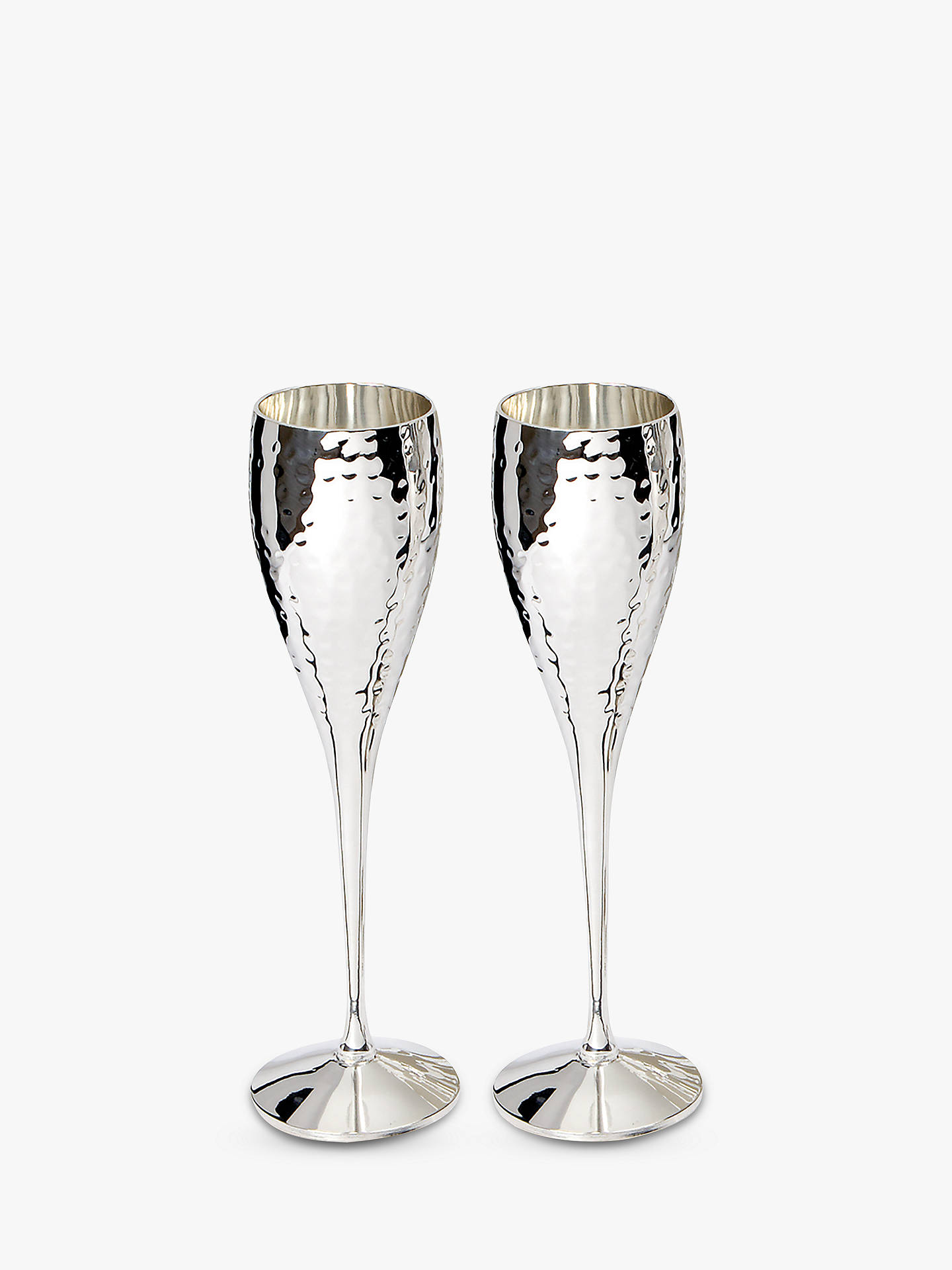 BuyCulinary Concepts Hammered Champagne Flutes, Set of 2 Online at johnlewis.com