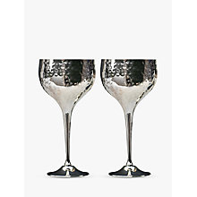 Buy Culinary Concepts Hammered Wine Goblets, Box of 2, Silver Online at johnlewis.com