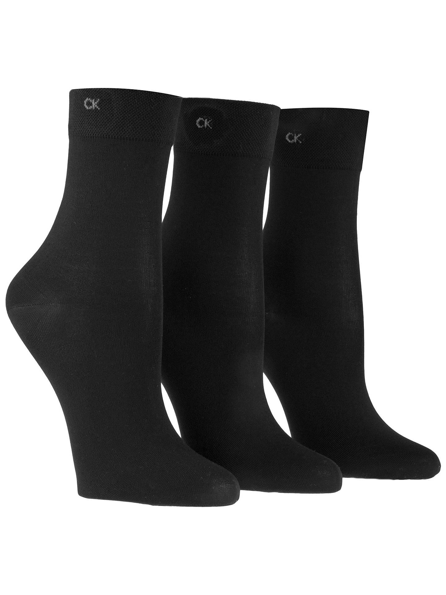7c0b4957b1 Buy Calvin Klein Light Sparkle Short Crew Socks, Pack of 3, Black Online at  ...