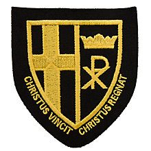 Buy Christ the King Catholic School Unisex Blazer Badge, Black/Yellow Online at johnlewis.com