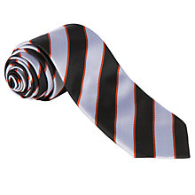 Buy Bungay High School Unisex School Tie, Silver/Black Online at johnlewis.com