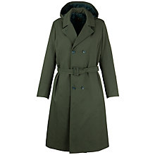 Buy School Long Double Breasted Raincoat, Green Online at johnlewis.com
