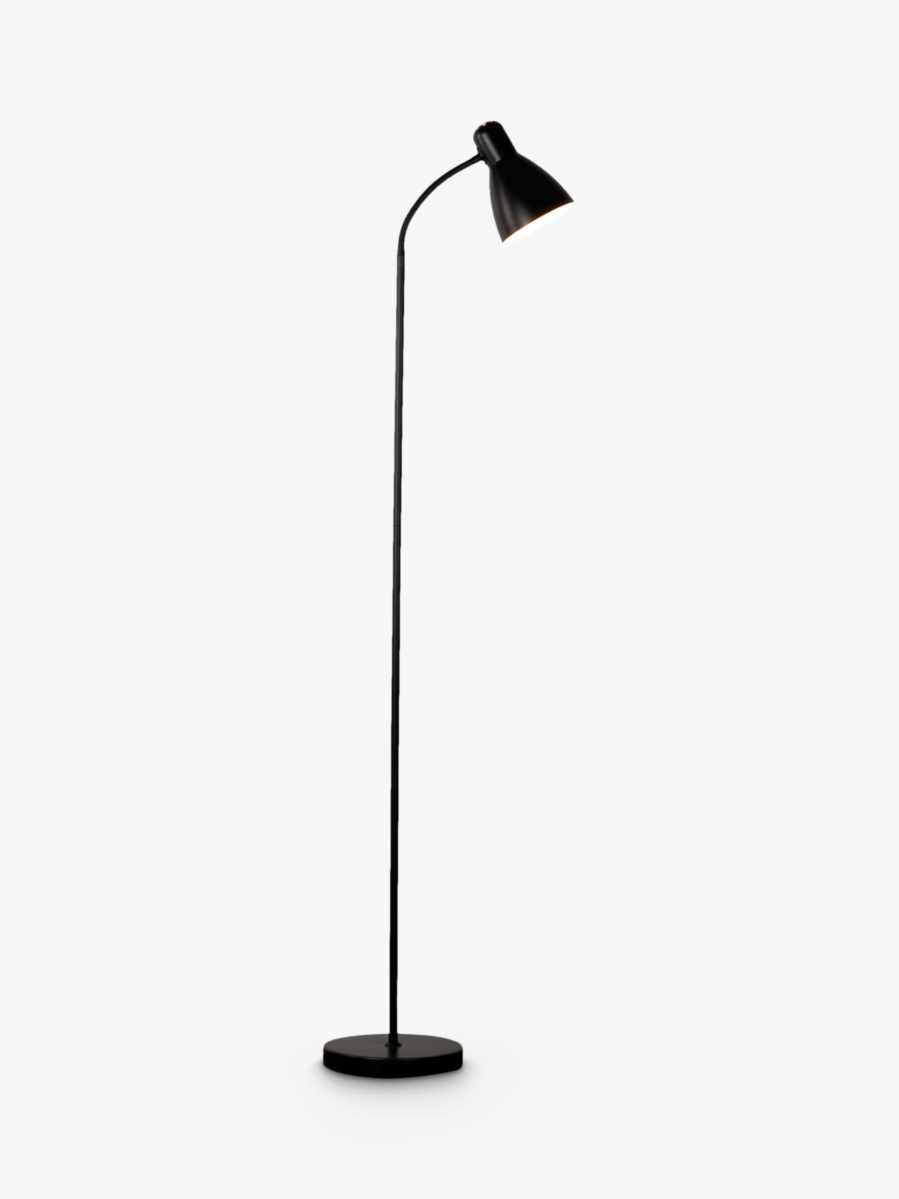 House by John Lewis Brandon Floor Lamp, Black