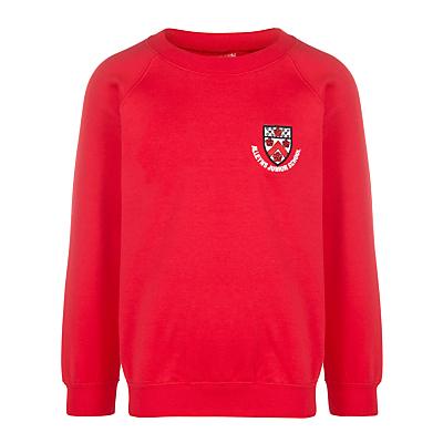 Image of Alleyn's Junior School Infant Unisex Sweatshirt, Red