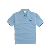 Buy Taverham High School Unisex Poloshirt, Sky Blue Online at johnlewis.com