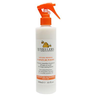 Wheelers Natural Beeswax Furniture Polish Spray, 300ml