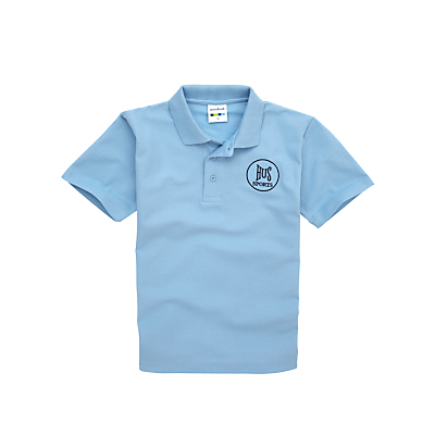 Product photo of Harlington upper school girls sports polo shirt