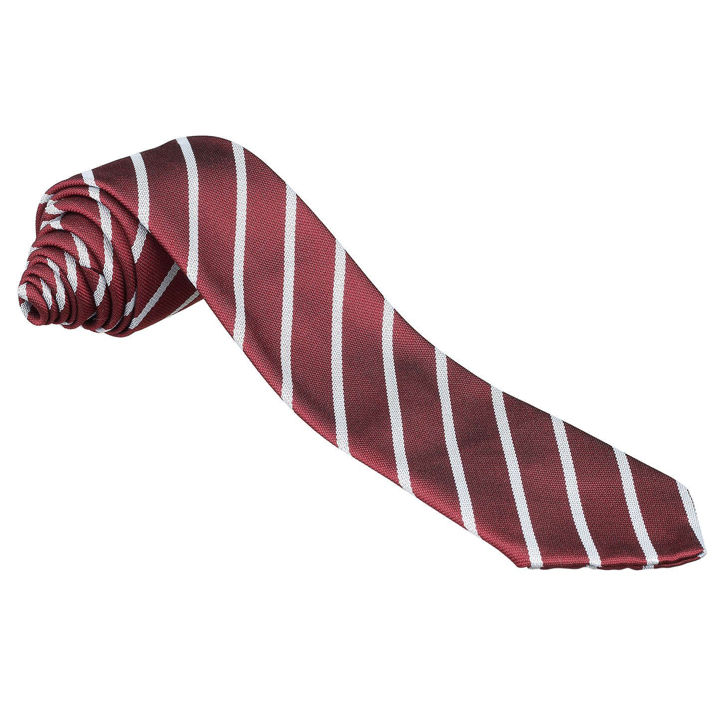 "BuyArchbishop Beck Catholic Sports College Unisex Tie, Maroon/Silver Stripe, L45"" Online at johnlewis.com"