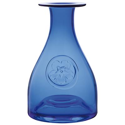 Dartington Crystal Primrose Bottle Vase, Blue