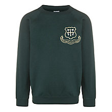 Buy St Helen's School Girls' Sweatshirt, Bottle Green Online at johnlewis.com