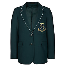 Buy St Helen's School Girls' Blazer, Bottle Green Online at johnlewis.com