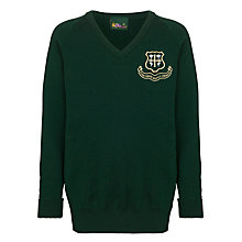 Buy St Helen's School Girls' Senior V-Neck Jumper, Bottle Green Online at johnlewis.com