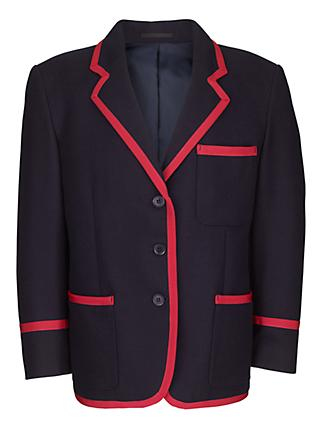 Swanbourne House School Girls Prep Blazer, Navy/Red