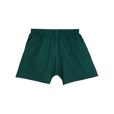 Buy School Unisex PE Shorts, Bottle Green Online at johnlewis.com