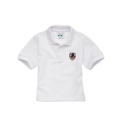 Buy St George's School Unisex Sports Polo Shirt, White Online at johnlewis.com