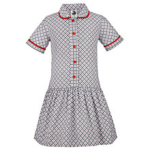 Buy Thornton College Girls' Summer Dress, Grey/Red Online at johnlewis.com