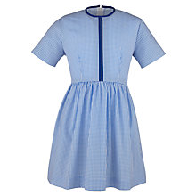 Buy School Girls' Check Print Summer Dress, Blue/White Online at johnlewis.com