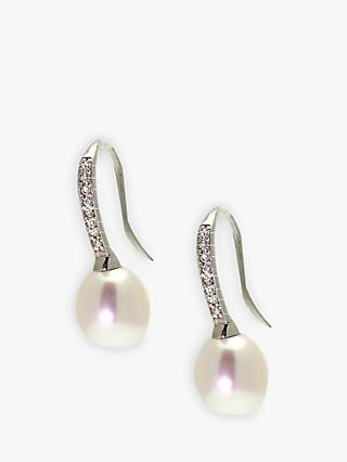 Lido Cubic Zirconia Freshwater Pearl Earrings