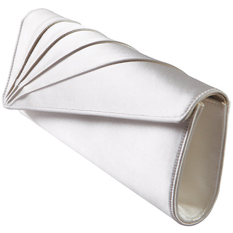 Buy Rainbow Club Tess Satin Clutch Bag, Ivory Online at johnlewis.com