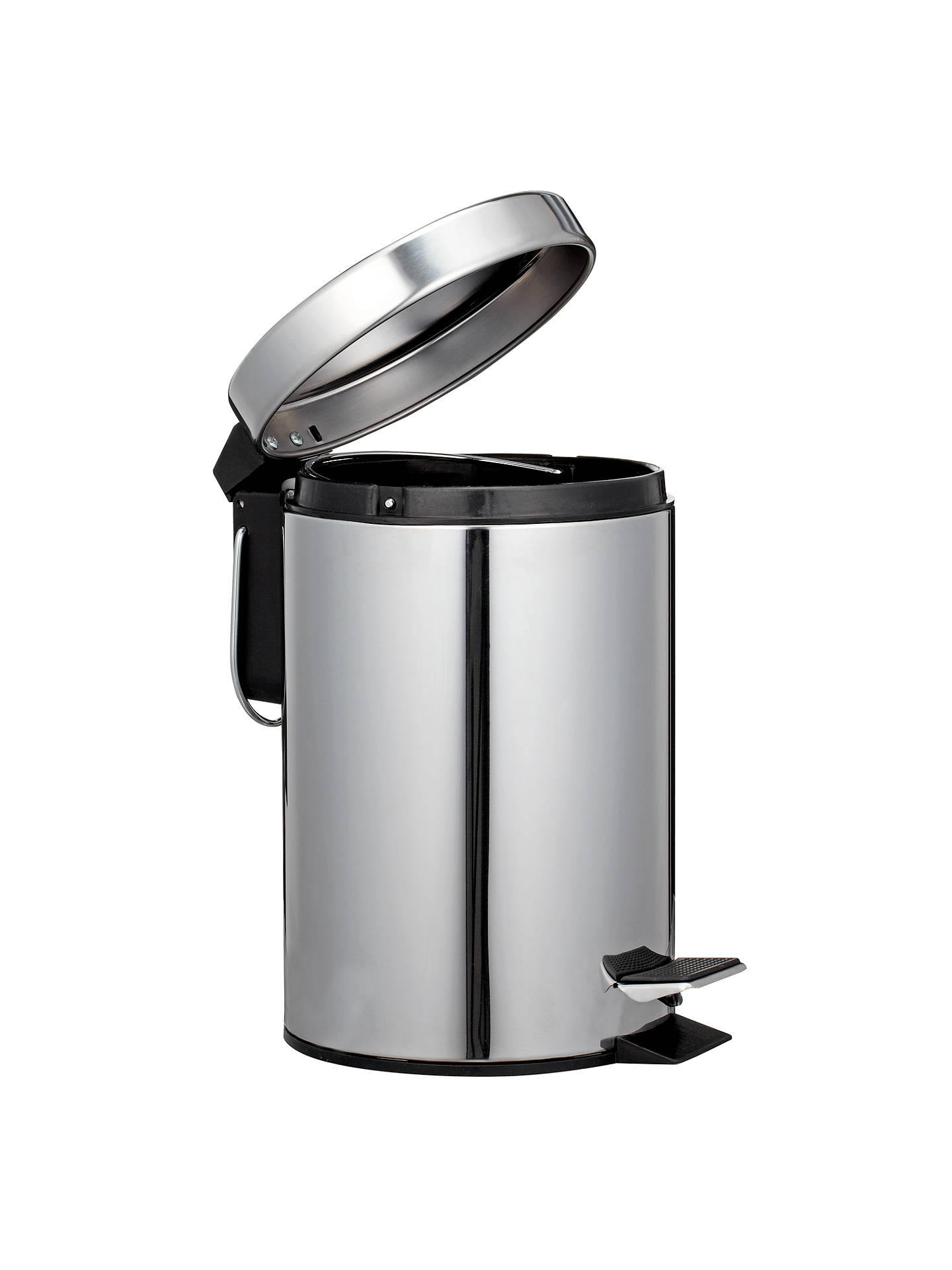 Buy John Lewis & Partners Round Soft Close Pedal Bin, 3L, Stainless Steel Online at johnlewis.com
