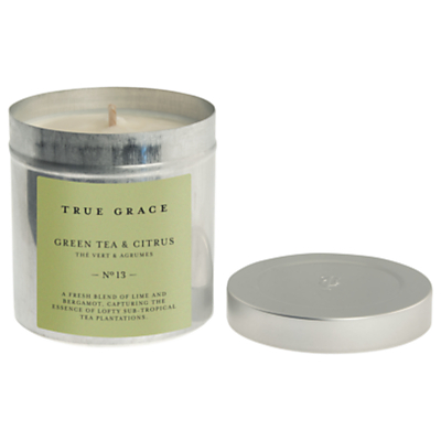 True Grace Green Tea and Citrus Scented Candle Tin
