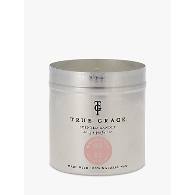 True Grace Village Moroccan Rose Scented Candle Tin