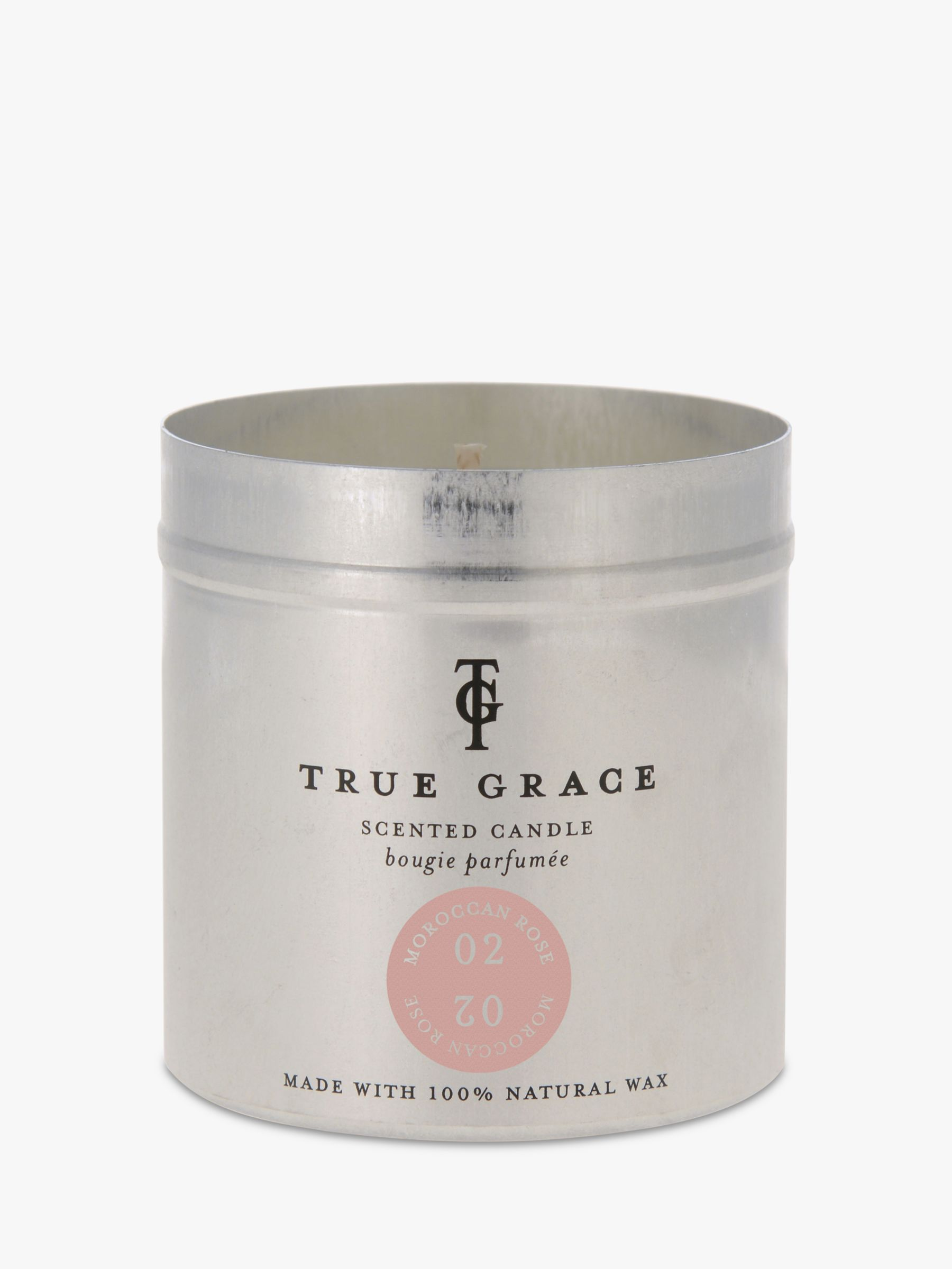 True Grace True Grace Village Moroccan Rose Scented Candle Tin