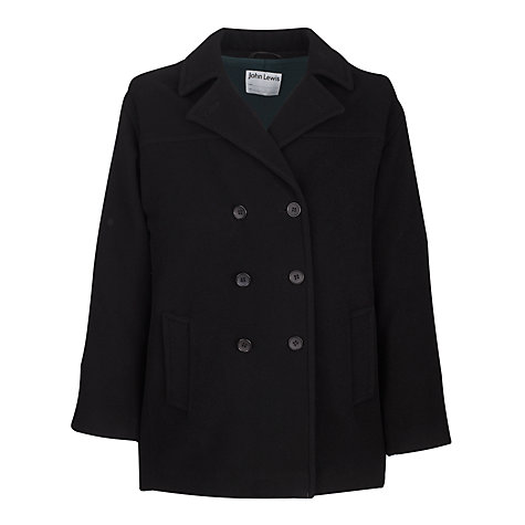 Buy School Girls' Double Breasted Cranston Coat, Black | John Lewis
