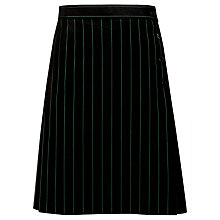 Buy The Elmgreen School Girls' Pinstripe Kilt, Black/Green Online at johnlewis.com