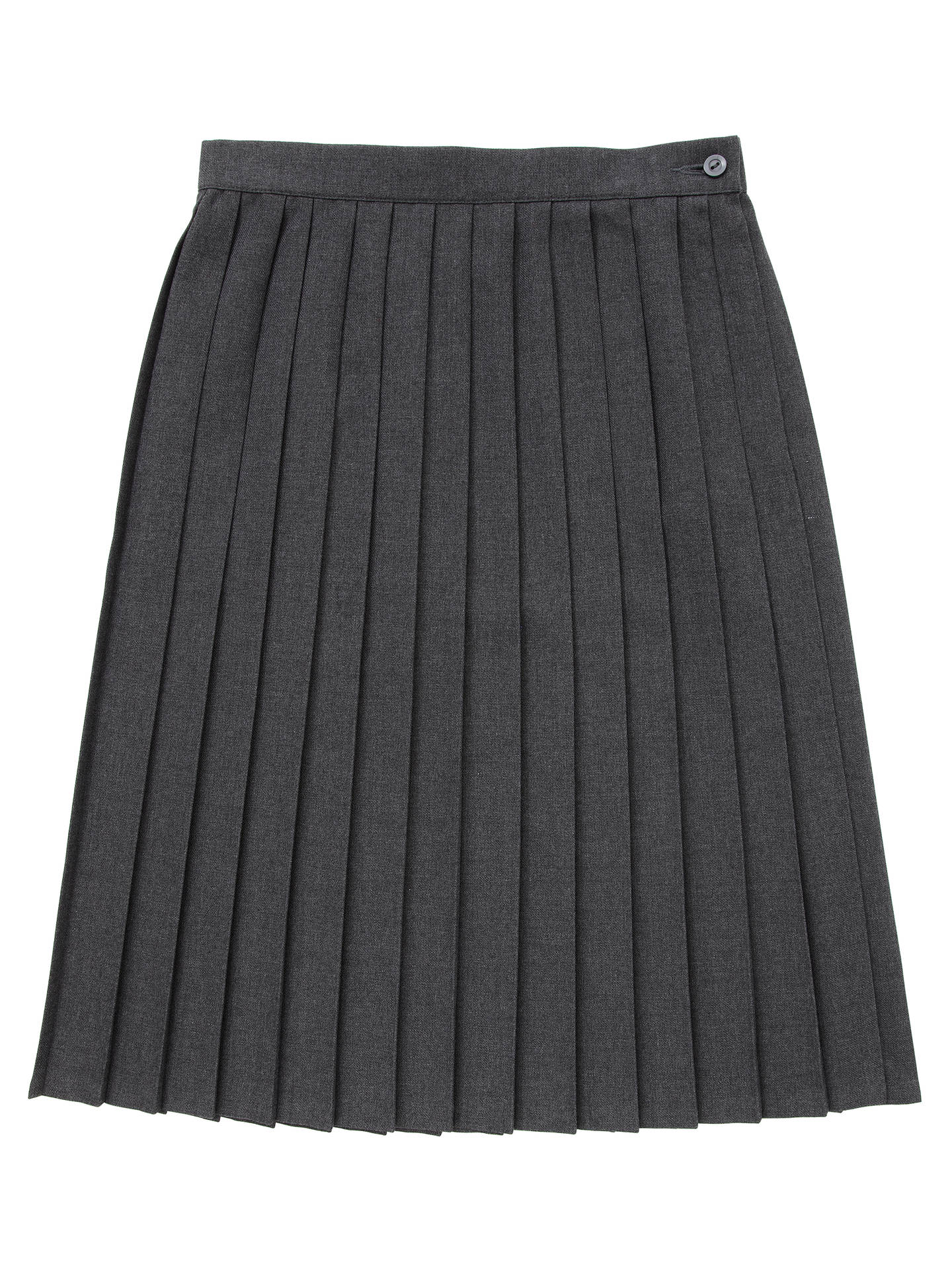 696b9465f215 Buy Francis Holland School Girls' Pleat Skirt, Dark grey, W22/L22 Online