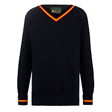 Buy Presdales School Wool Mix Pullover, Navy Online at johnlewis.com